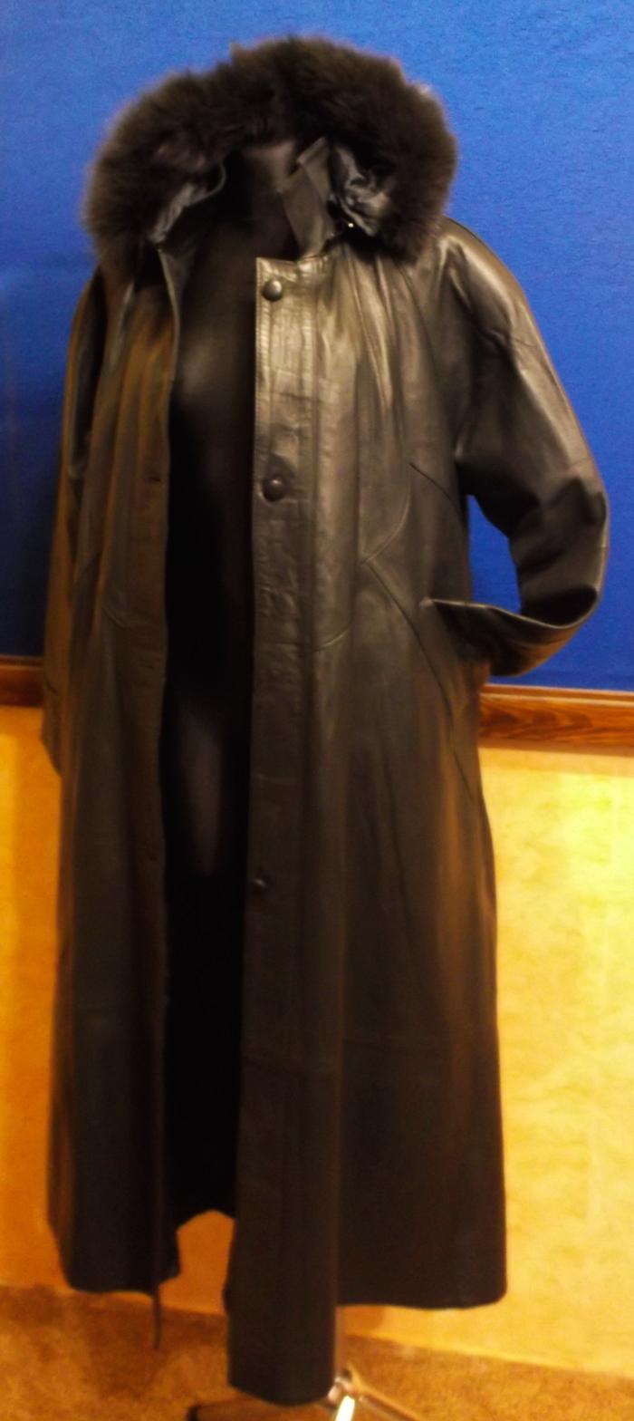 Dámský kožený kabát šedý - poslední kus.  0ff6b372394