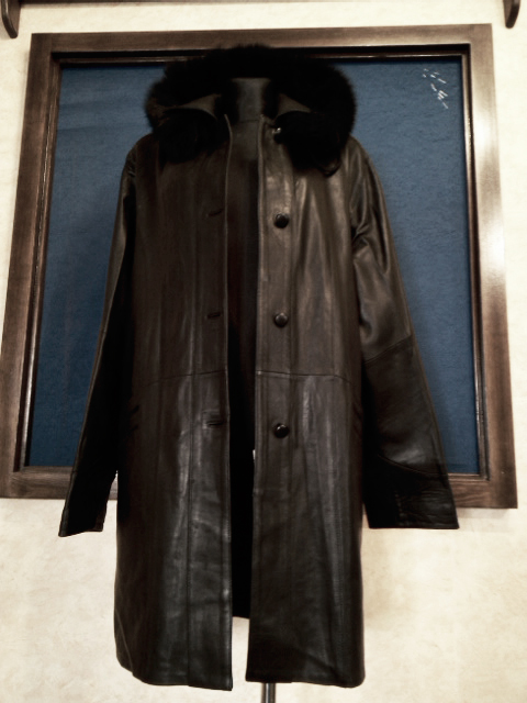 Dámský kožený kabát černý - poslední kus. 24e9fd25f6e