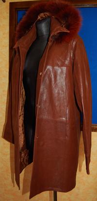 388d7100b95 Dámská kožená bunda hnědá - poslední kus. empty