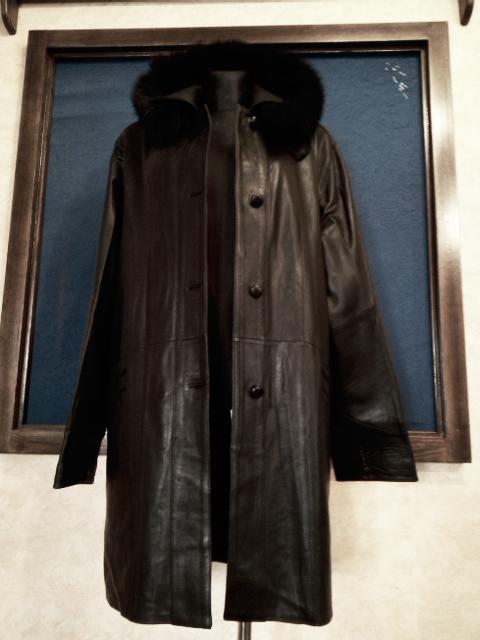 09bf7d7b141 Dámský kožený kabát černý - poslední kus. empty